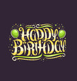 greeting card for happy birthday vector image vector image