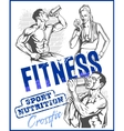 GYM bodybuilding - Fitness club vector image