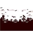 halloween fantastic design poster vector image vector image