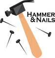 Hammer and Nails vector image vector image