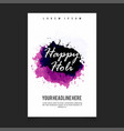 happy holi design card with unique style and vector image