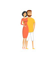 happy young lovely couple icon vector image vector image