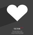 Heart Love icon symbol Flat modern web design with vector image vector image