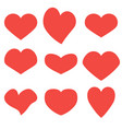 hearts set icons vector image