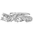 heraldic dragon no13 vector image vector image