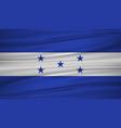 honduras flag flag of honduras blowig in the vector image vector image