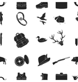 Hunting pattern icons in black style Big vector image vector image