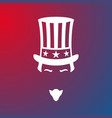 icon of uncle sam national holiday in united vector image vector image