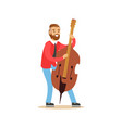 male cellist playing cello vector image vector image