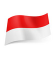 national flag of indonesia red and white vector image vector image