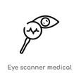 outline eye scanner medical icon isolated black vector image vector image