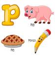 p alphabet vector image