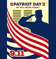 patriot day vintage banner or poster vector image vector image