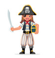pirate girl children costume masquerade teen party vector image