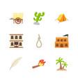 pirates and treasure flat icons vector image vector image