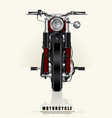 poster chopper motorcycle isolated vector image
