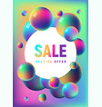 rainbow anodized foil balls sale template vector image