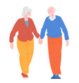 romantic couples retiree vector image
