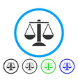scales rounded icon vector image