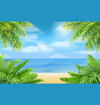 sea beach and tropical bushes vector image vector image