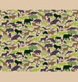 seamless camouflage pattern with animals for kids vector image vector image