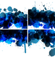 set of ink blots backgrounds vector image vector image