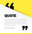 square motivation quote template background vector image vector image