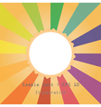 sun and colourful ray vector image vector image