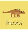 Talarurus dinosaur colorful card vector image