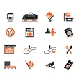 Train station symbols vector image vector image
