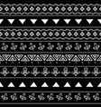 Tribal black and white seamless repeat pattern