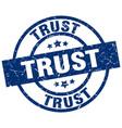 trust blue round grunge stamp vector image vector image