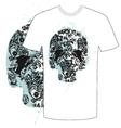 tshirt skull abstract
