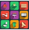 Utilities icons in flat style vector image vector image