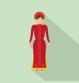 vietnam woman icon flat style vector image