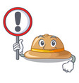 with sign cork hat isolated on the mascot vector image