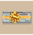bundle of dollars gold ribbon with bow vector image