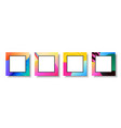 abstract modern color greeting card template set vector image