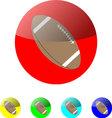 American football icon vector image vector image