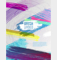artistic colorful brushstrokes cover design eps10 vector image vector image