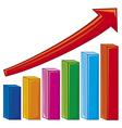 bar graph-increase diagram vector image vector image