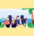 beach party summer dj set modern relax disco vector image vector image
