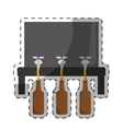 beer dispensers icon image design vector image vector image