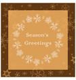 beige and brown season greetings - greeting card vector image vector image