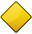 Blank glossy road sign vector image vector image
