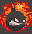 bomb dynamite fuse grenade vector image vector image