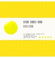 card with watercolour circle in yellow vector image vector image