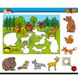 cartoon activity for kids vector image vector image