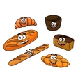 Cartoon bread bakeries vector image vector image