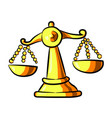 cartoon image of scales icon balance symbol vector image vector image